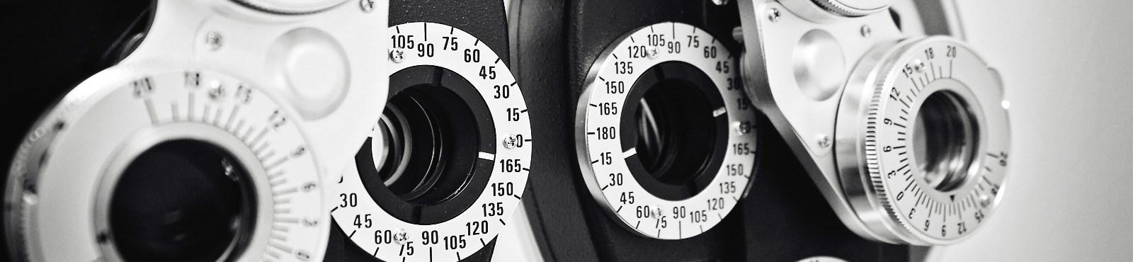 Modern diagnostic and eye examination equipment